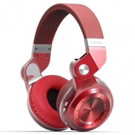 Casque Bluetooth Bluedio T2S stéréo sans fil écouteur microphone intégré Rouge