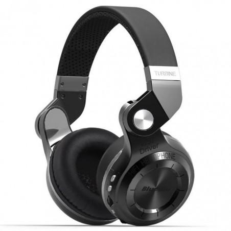 Casque Bluetooth Bluedio T2+ stéréo sans fil avec microphone carte micro-SD et FM radio Noir