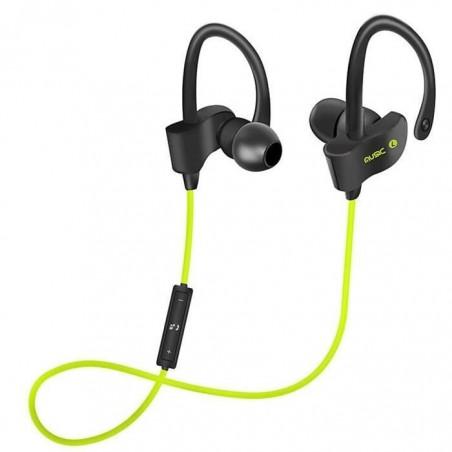 Casque Écouteurs Sport Earphone Headphone Sans fil stéréo H5 VERT