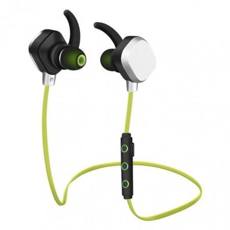 Écouteurs Sport Earphone Headphone Sans fil stéréo IP55 Vert
