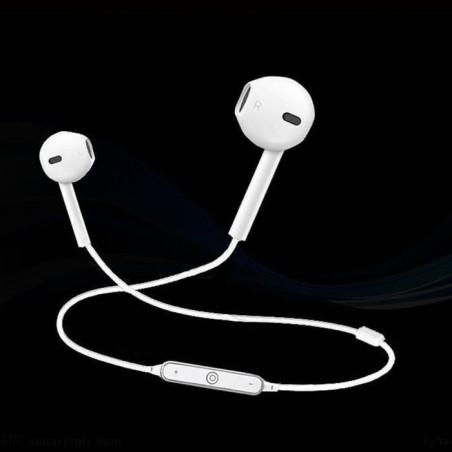 Écouteurs Sport Earphone Headphone Sans fil stéréo B3300 Blanc
