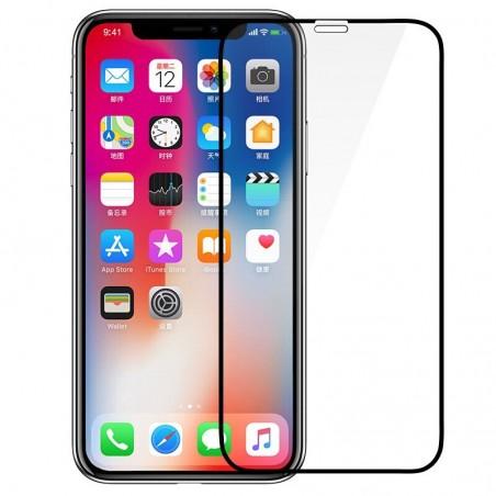 1 Verre trempé pour iPhone Xr 5D Noir