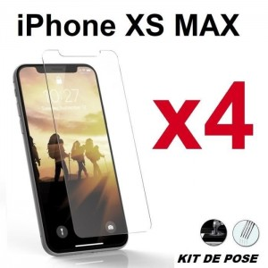 4 Verre trempé pour iPhone Xs Max Transparent