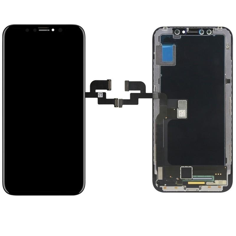 ECRAN LCD POUR IPHONE X/10 RETINA OLED VITRE TACTILE SUR CHASSIS + OUTILS