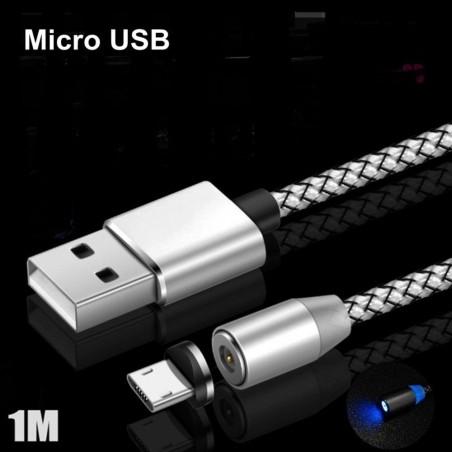 Câble 360 Degrés Magnétique Type-C, Micro-USB, Lightning