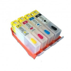 4 Cartouches rechargeables compatibles HP HP364 HP364XL