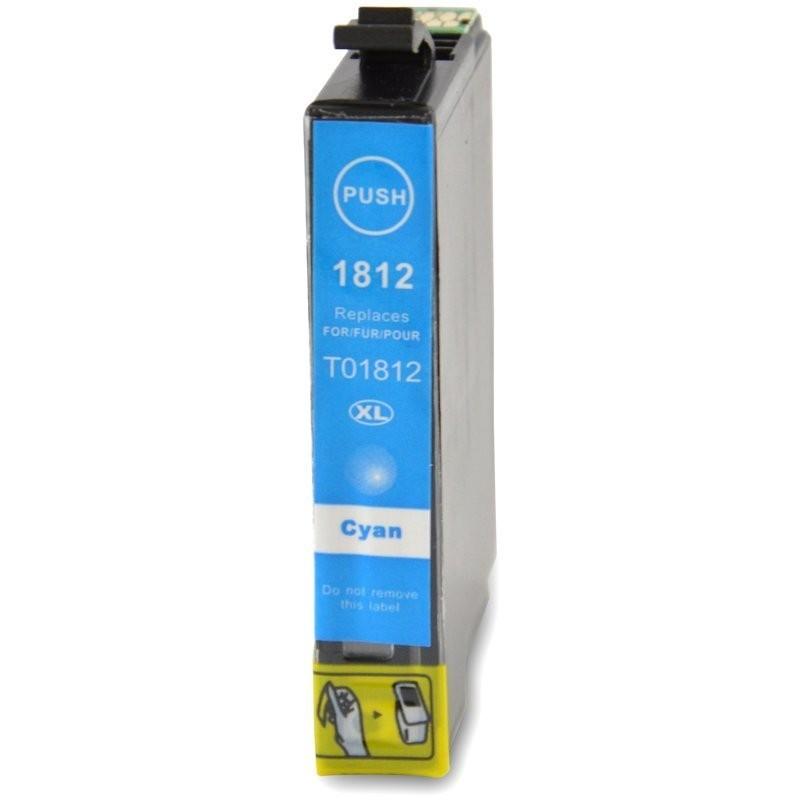 1 Cartouche compatible EPSON T1812 Cyan 14ML