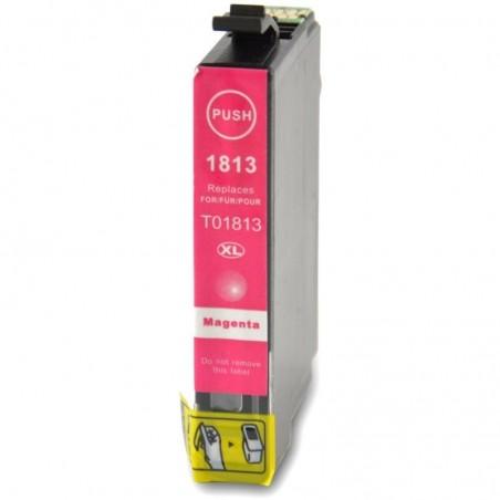 1 Cartouche compatible EPSON T1813 Magenta 14ML