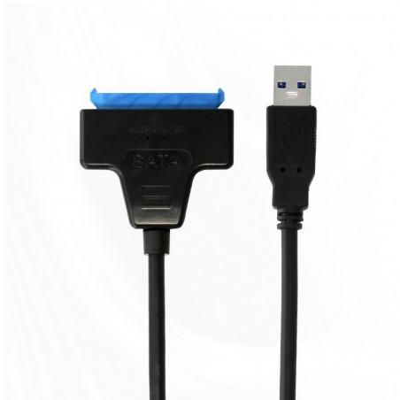 Adaptateur USB 3.0 SATA 2.5 SSD-HDD BLEU