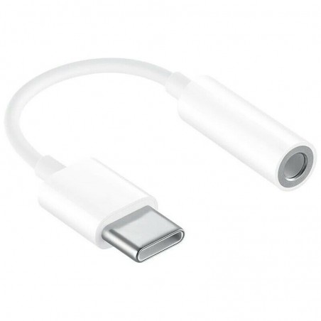 Adaptateur Type-C vers Jack 3.5mm Audio Smartphone Blanc