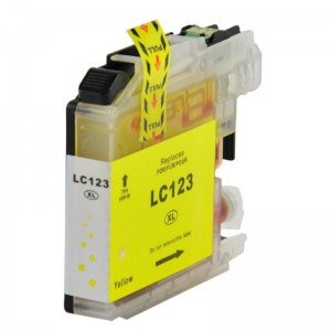 1 Cartouche compatible Brother LC-123Y Jaune