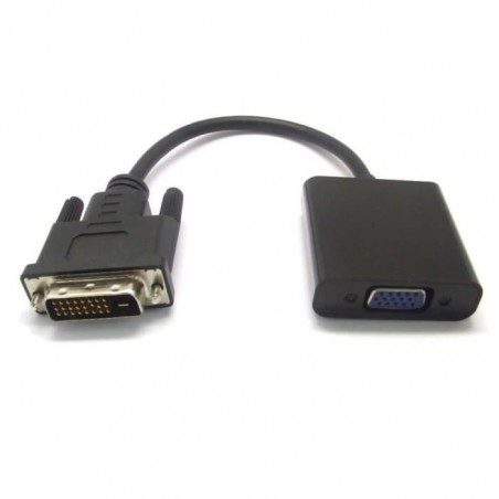 Adaptateur DVI-D 24 + 1 broches mâle vers VGA 15 broches femelle câble actif