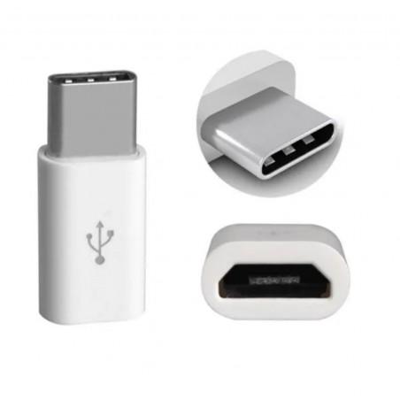 Adaptateur Micro USB vers Type-c Blanc
