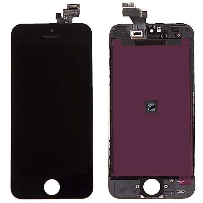 ECRAN LCD RETINA VITRE TACTILE SUR CHASSIS IPHONE 5 NOIR