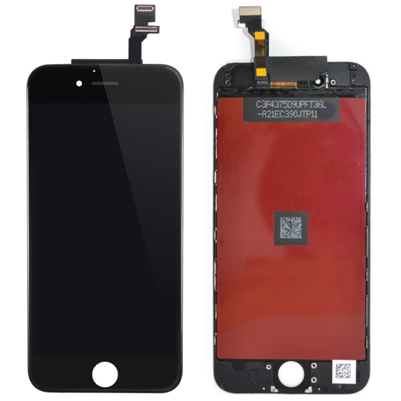 ECRAN LCD RETINA + VITRE TACTILE COMPLET SUR CHASSIS IPHONE 6 PLUS NOIR